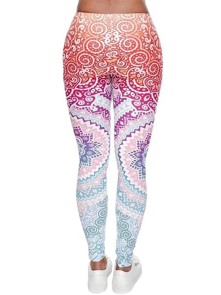 makeda back women's printed leggings