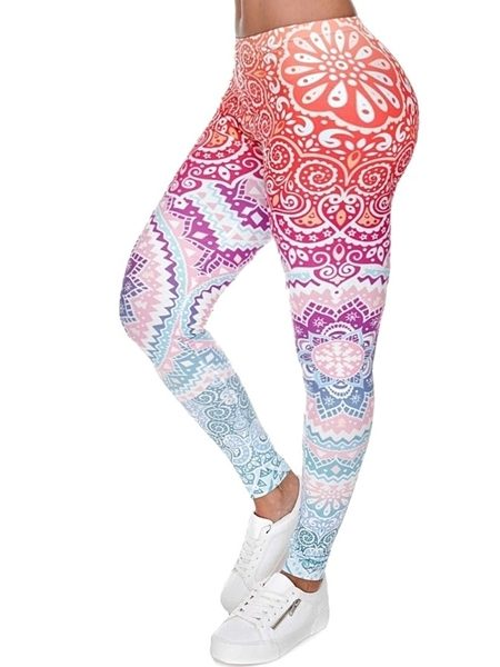 printed leggings women's athleisure