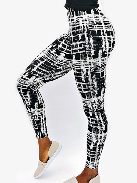 Cleopatra Print Leggings Athleisure