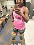 african athleisure workout leggings tribal print