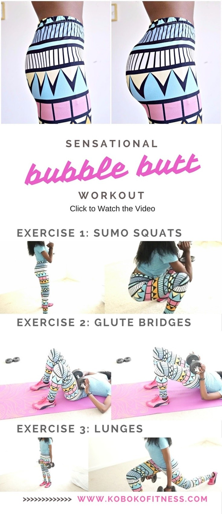 Bubble Butt Booty Workout At Home Christina Carlyle Dailyburn