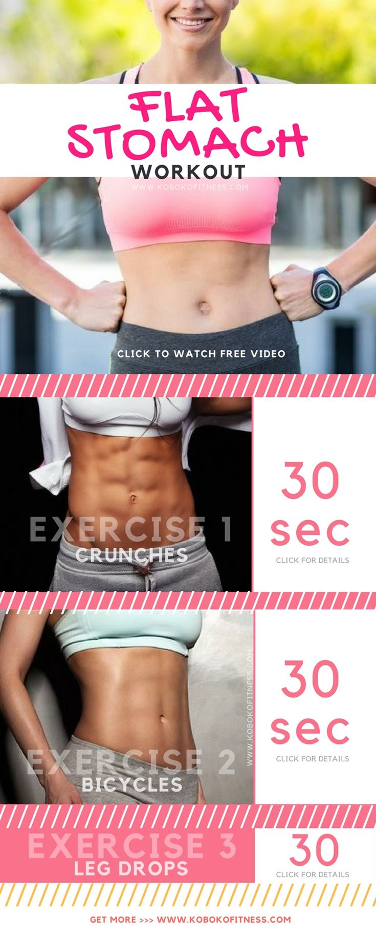 The result of this flat stomach workout is amazing. You will love it because it is easy to follow the video