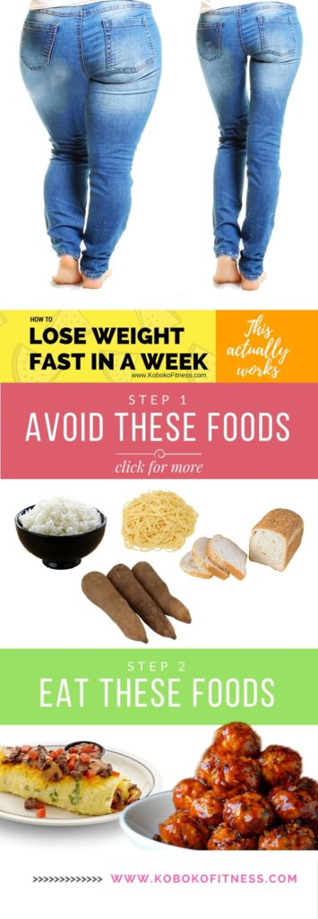 how to lose weight super fast in a week
