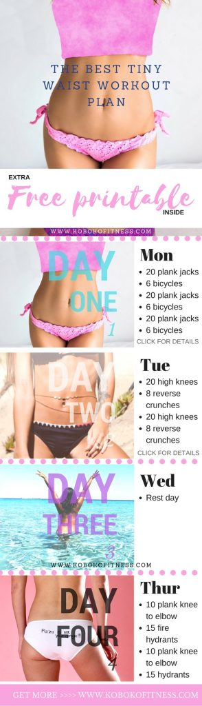 The Best 3 Day Tiny Waist Workout (+ Free Printable ...