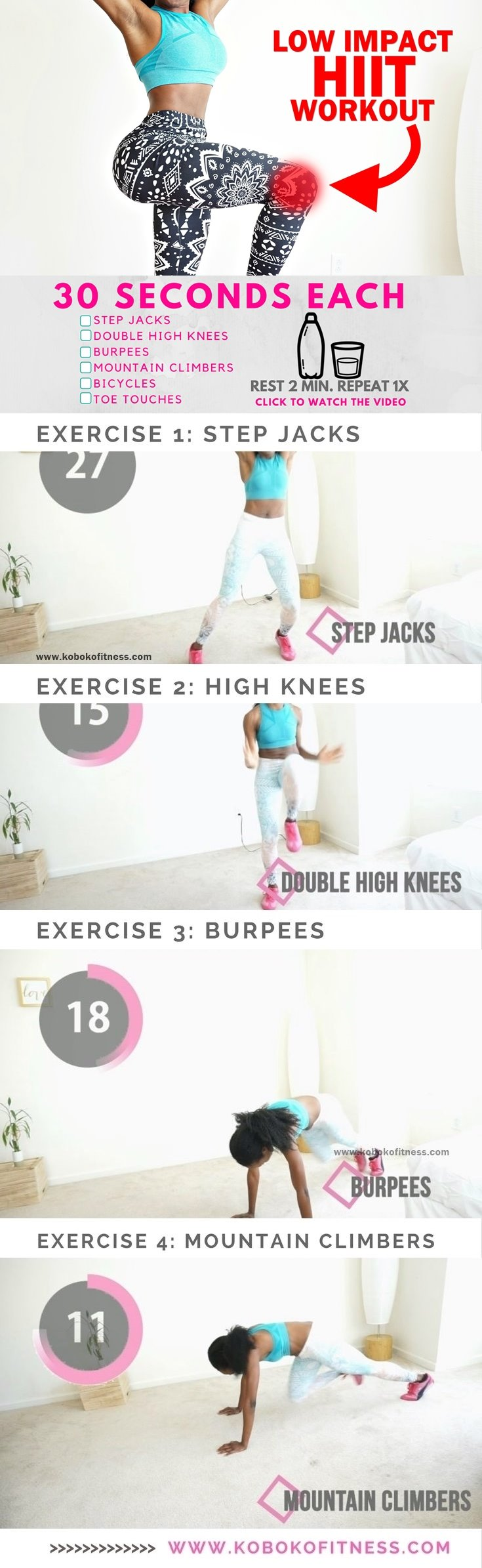 hiit workout 10 minutes low impact full workout video. Black Bedroom Furniture Sets. Home Design Ideas
