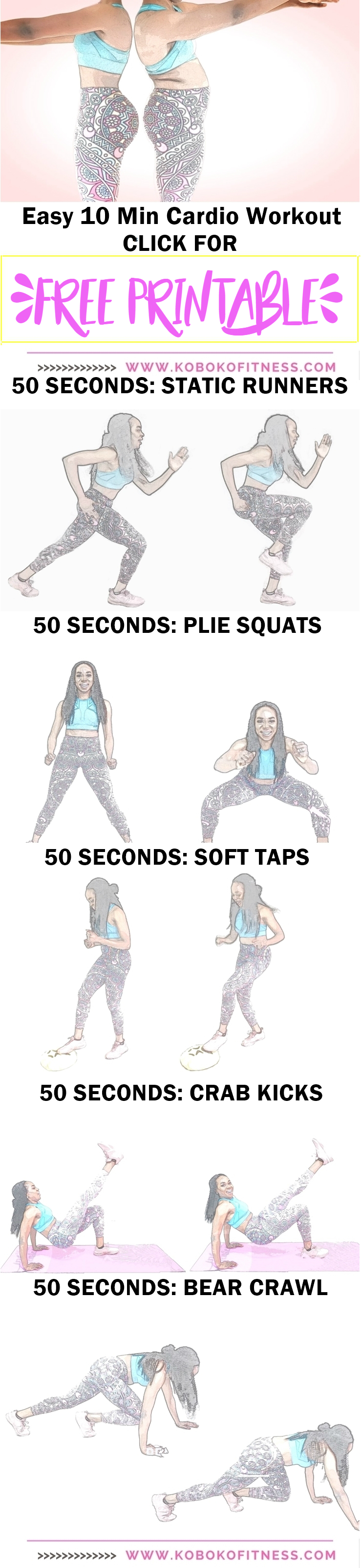 Easy 10 Min Cardio Workout To Lose Weight Free Printable